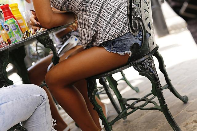 Cuba, Havana, Girl, Legs, Shorts, Session, Cafe, Chair