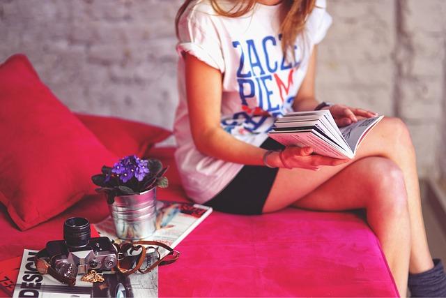 Girl, Legs, Book, Camera, Vintage, Houseplants