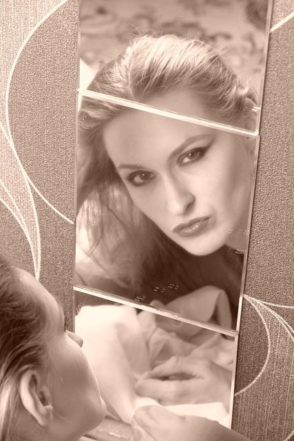 Dana, Maleshova, Girl, Mirror, Sepia