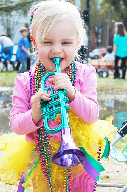 New Orleans, Parade, Girl, Carnival, Beads, Mardi Gras