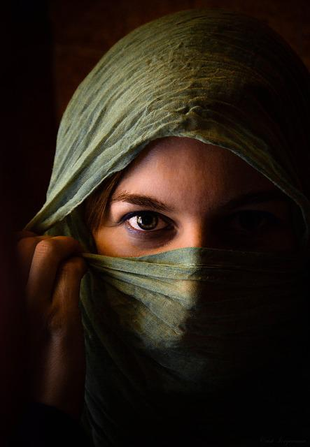Woman, Girl, Eye, Models, Scarf, Beauty