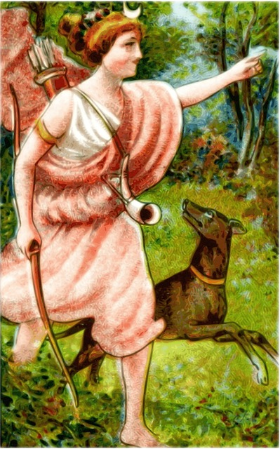 Goddess Diana, Myth, Mythology, Woman, Old, Girl