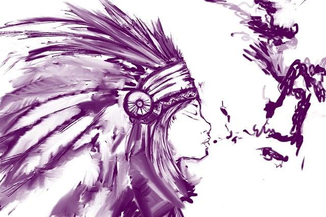 Sketch, Girl, Native, American Indian, Native American