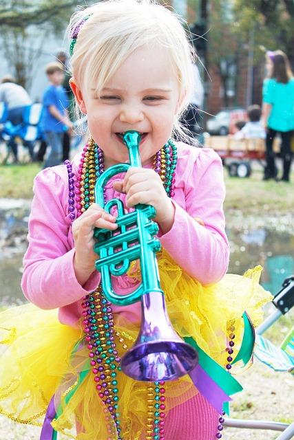 New Orleans, Parade, Girl, Carnival, Beads, Mardi Gras