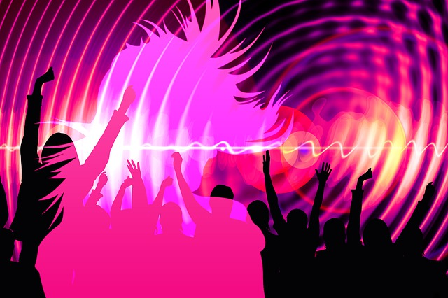 Silhouette, Girl, Dance, Party, Disco, Nightclub