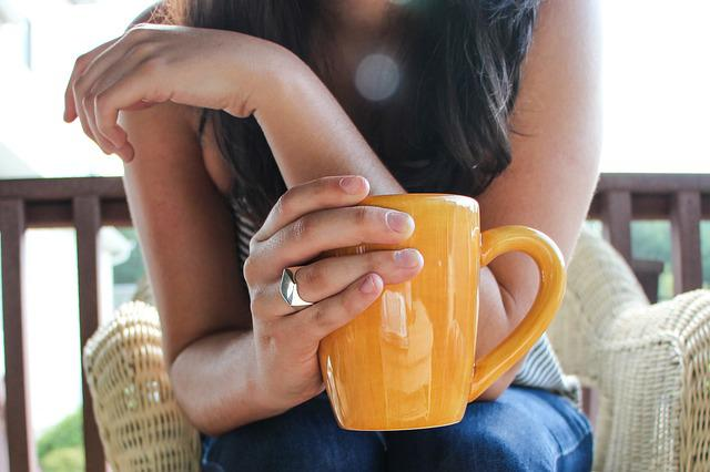 Coffee, Cup, Early Morning, Girl, Morning, Outside