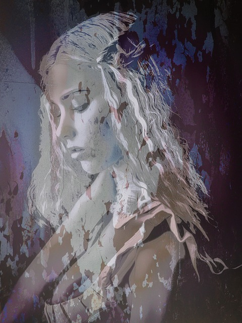 Grunge, Paint, Girl, Color, Painting