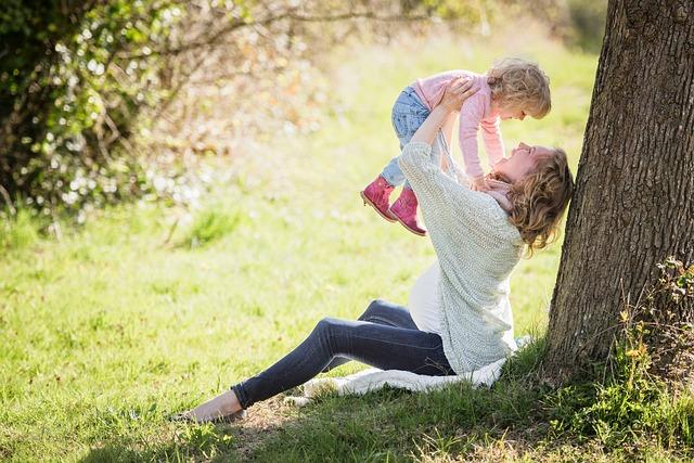 Park, Mother, Girl, Mama, Child, Toddler, Landscape