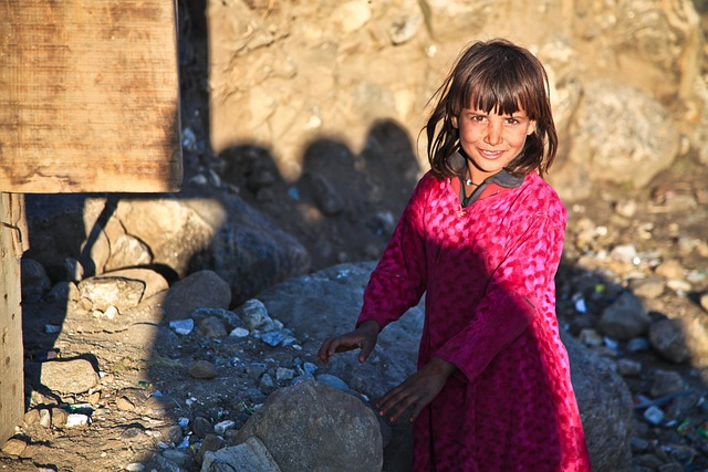 Girl, Cute, Afghanistan, Person, Alone, Child, Happy