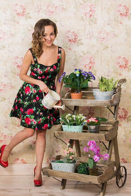 Girl, Flowers, Spring, Mood, Pin-up