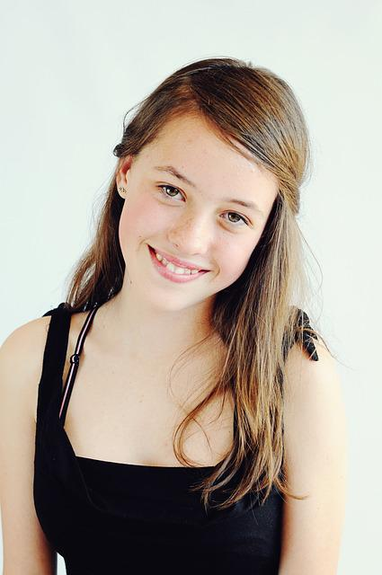 Teenager, Daughter, Happy, Smiling, Portrait, Girl