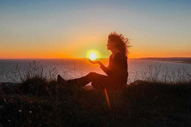 Silhouette, Sunset, Girl, Ocean