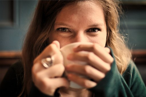 Girl, Woman, Smile, Smiling, Happy, Coffee, Tea, Cup