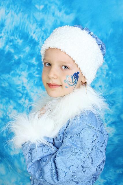 Girl, Snow Maiden, New Year's Eve, Winter