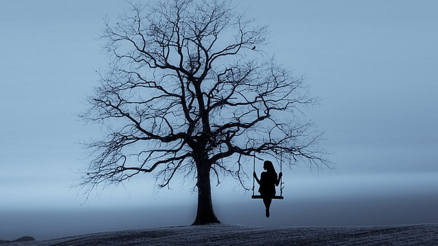 Tree, Swing, Lady, Woman, Girl, Relaxing, Solitude