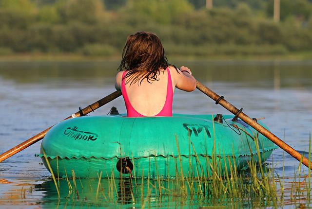 Boat, River, Girl, Rowing, Sports, Charging, Tourism