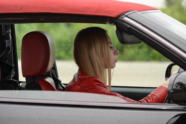 Girl, Car, Trip, Journey, Road, Steering Wheel