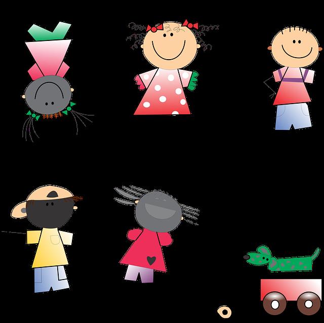 Boy, Children, Girl, Kids, Stick Figure