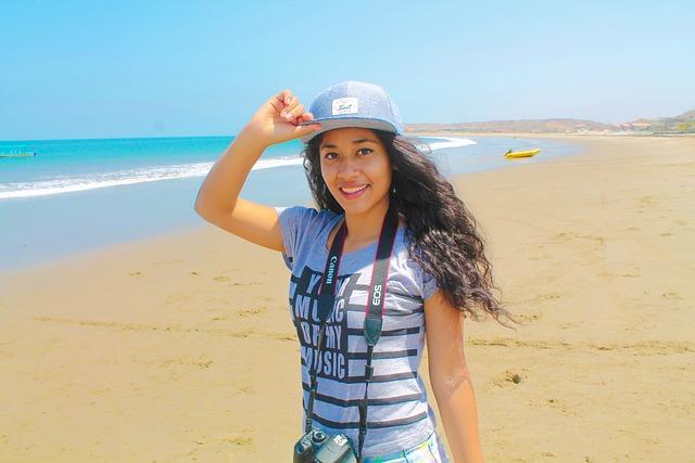 Girl, Beach, Sea, Women, Holiday, Blue, Sky, Bella, Sun