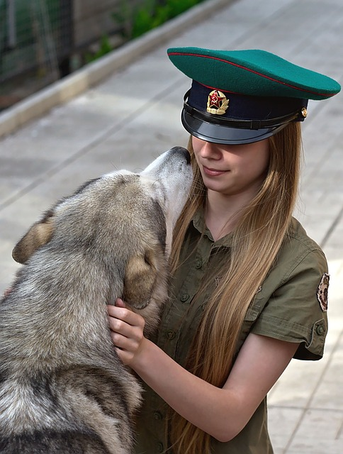 Girl, Dog, Tenderness
