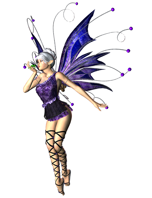 Girl, Woman, Fairy, Elf, Png, Wings