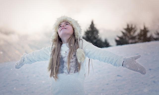 Person, Human, Female, Girl, Cap, Winter, Snow, Gloves