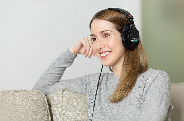 Woman, Girl, Headphones, Music, Listen To, Relaxes