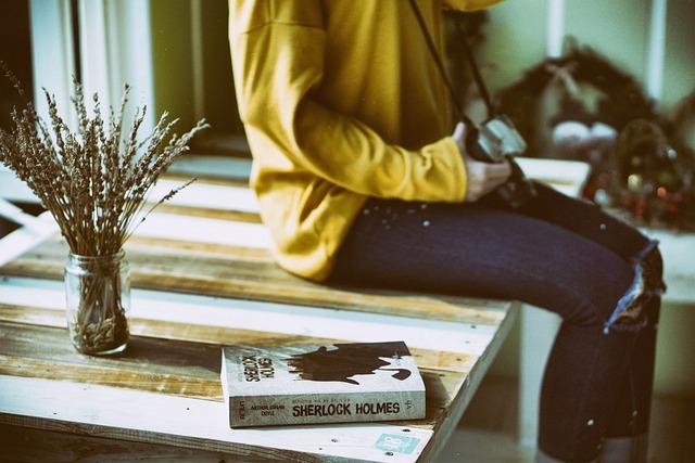 Book, Furniture, Girl, Sitting, Table, Woman, Wood