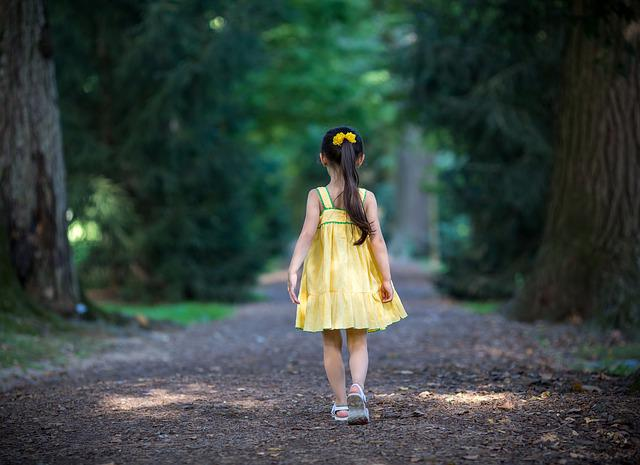 Nature, Girl, Outdoors, Wood, Young