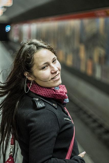 Girl, Underground, Metro, Subway, Young, Woman, Female