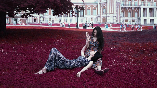 Twins, Girls, Sisters, Grass, Russia, Moscow, Beautiful
