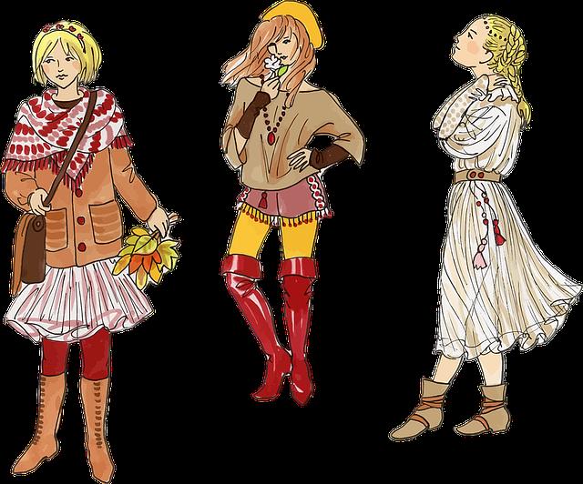 Clothes, Drawing, Fashion, Females, Girls, Ladies