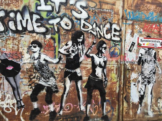 Berlin, Colors, Street, Alley, Graffiti, Girls, Dance