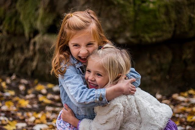 Children, Cute, Fun, Girls, Happiness, Happy, Hugging