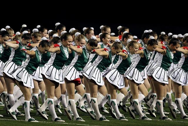 High School, Drill Squad, Drill Team, Girls