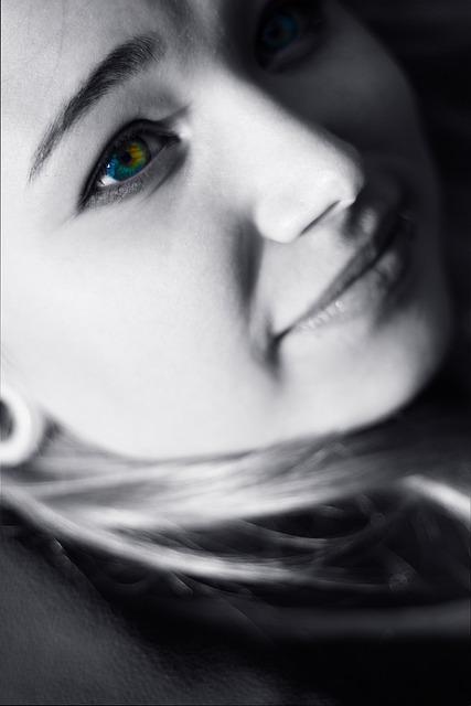 Portrait, Girls, Eyes, Mosaic, Photoshoot, Person