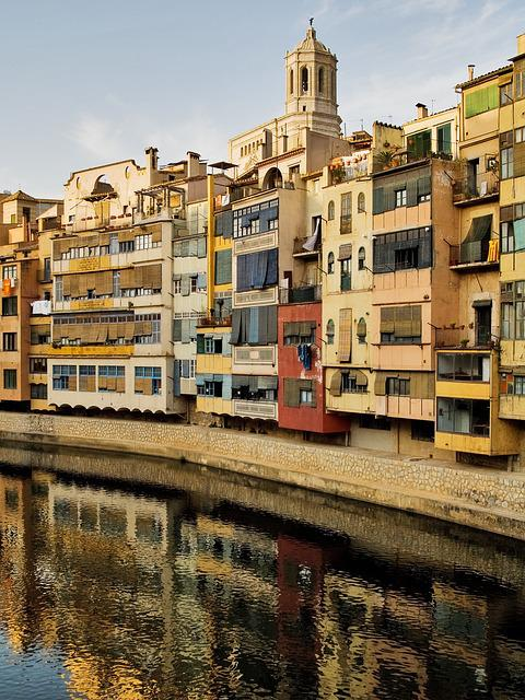 Girona, Catalonia, Spain, Architecture, City, Old Town