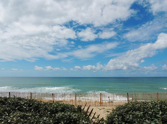 Ocean, Sea, Beach, Lacanau, Gironde, Sky, Atlantic