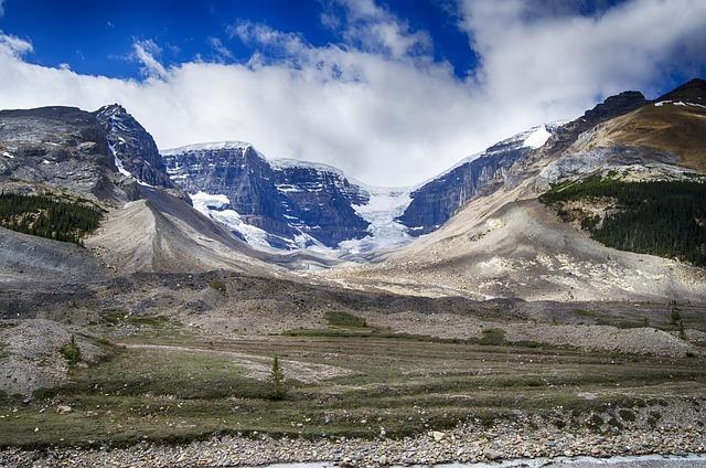Glacier, Glacial Till, Canadian Rockies, Mountains