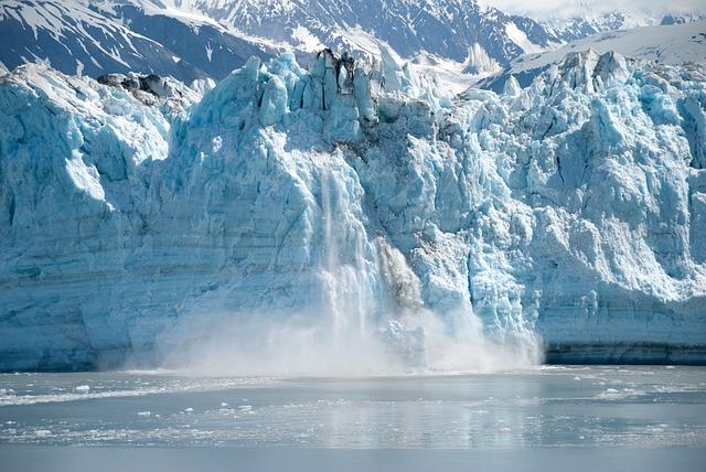 Alaska, Glacier, Ice, Calving