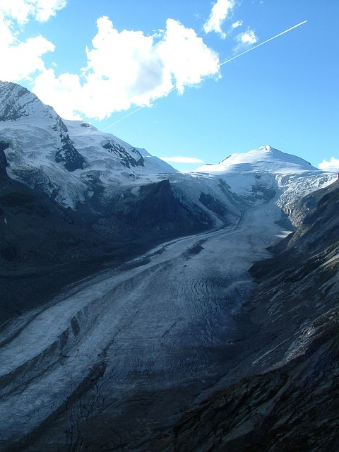 Austria, Grossglockner, Glacier