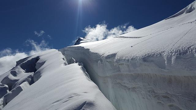 Ortler, Crevasse, Glacier, Alpine, Mountains