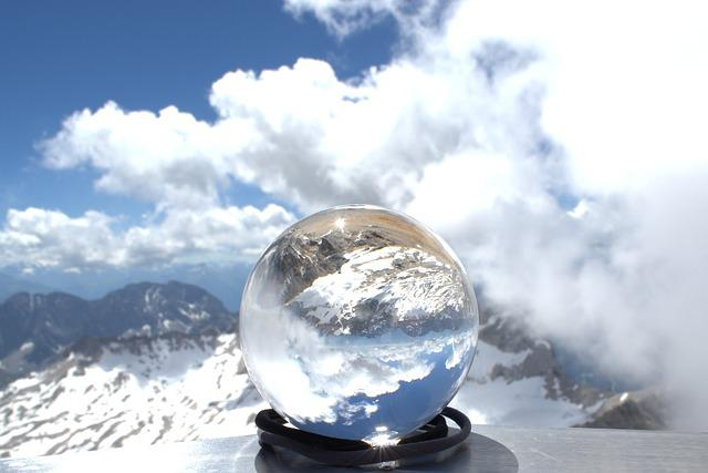 Zugspitze, Globe Image, Glass Ball, Glacier, Garmisch