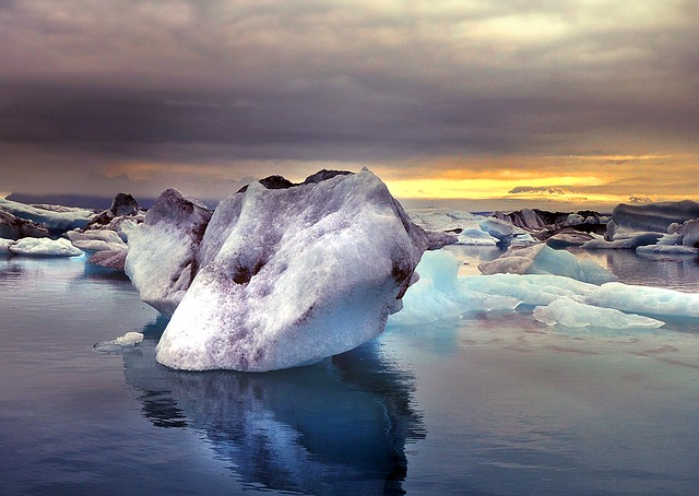 Ice, Iceland, Glacier, Nature, Water, Mood, Landscape