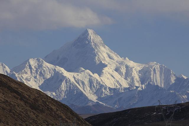 Mountain, Snow, A Bird's Eye View, Glacier