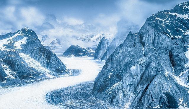Mountains, Mountain, Snow, Winter, Alaska, Glacier