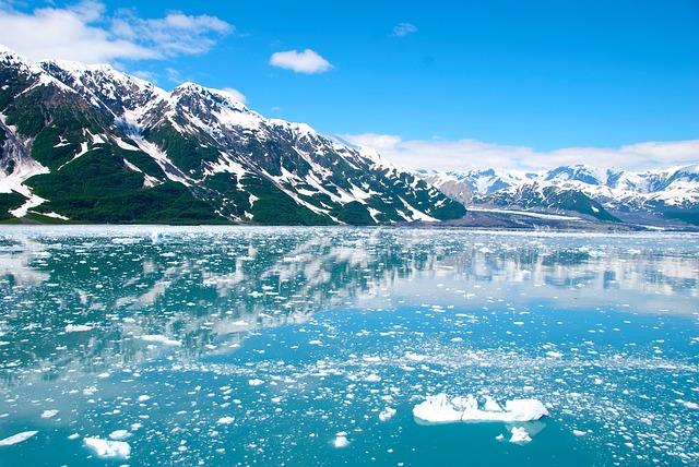Alaska, Glacier, Ice, Mountains, Landscape, Snow