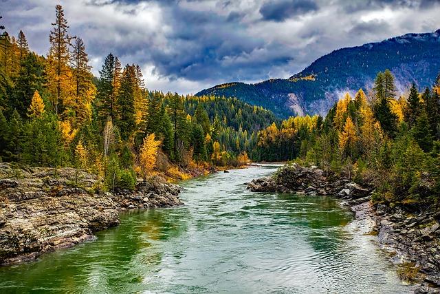 River, Glacier National Park, Montana, Landscape