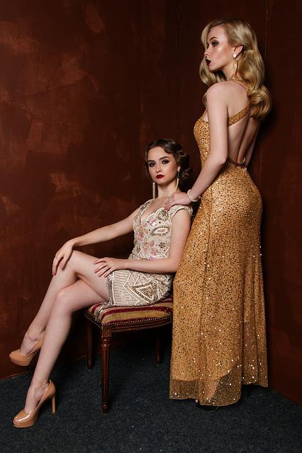 Two, Blonde, Hair, Glitter, Glamour, Luxury, People