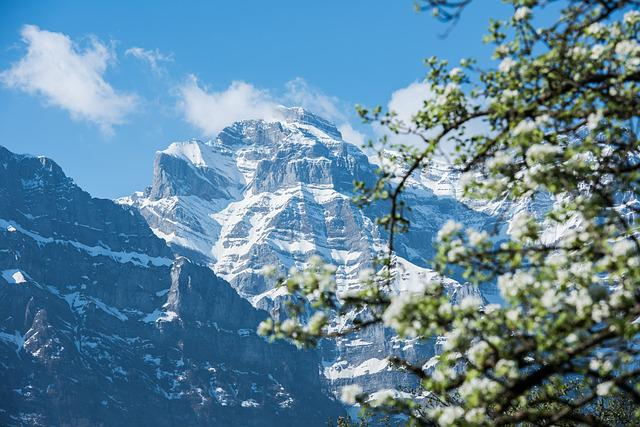 Spring, Mountains, Snow, Glarus, Canton Of Glarus